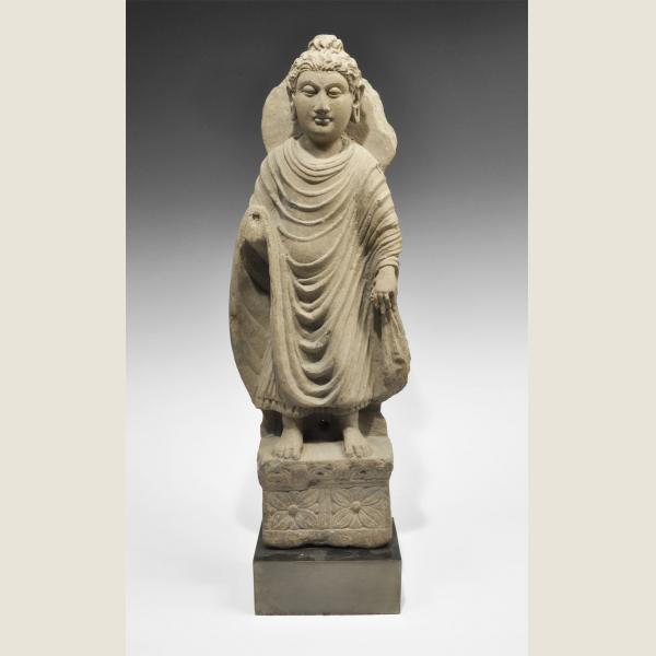 Ancient Gandharan Stone Standing Buddha