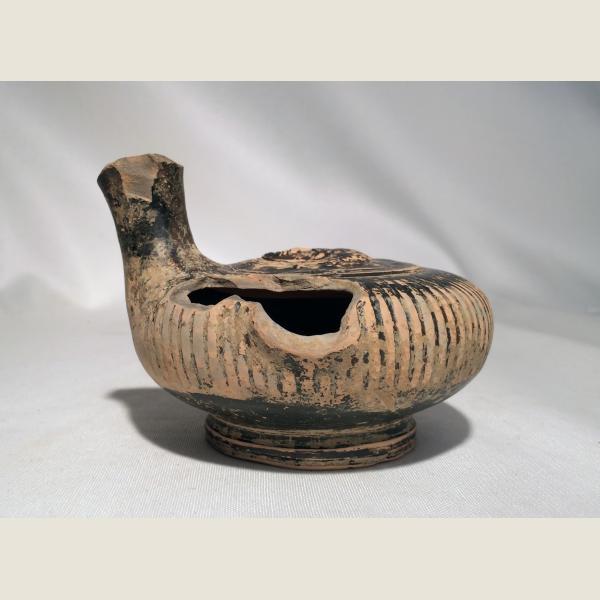 Ancient Greek Glazed Guttus