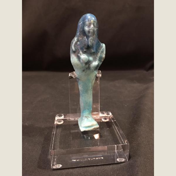 Ancient Egyptian Blue Faience Ushabti