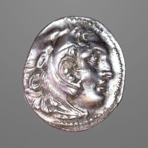 Image For: Ancient Greek Macedonia, Alexander III - Zeus Drachm Coin