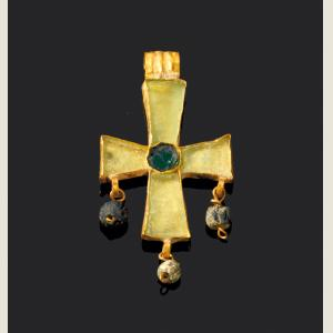 Image For: Early Byzantine Golden Cross Pendant