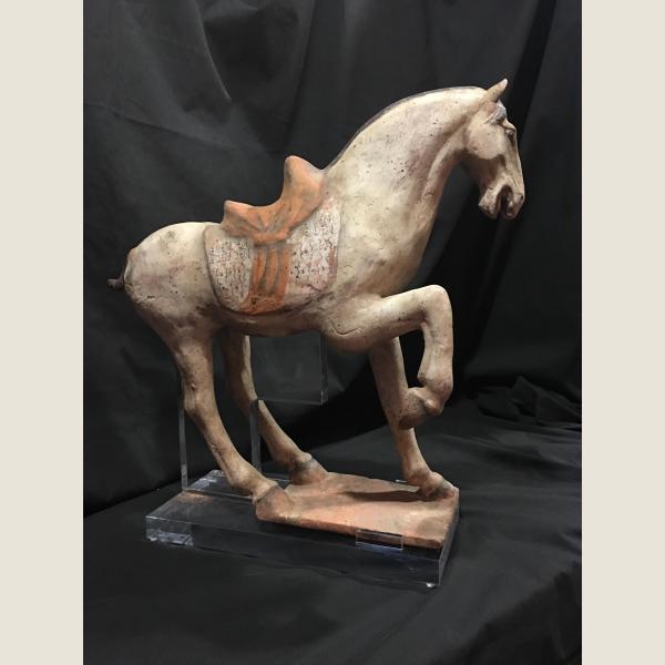 Ancient Chinese Tang Dynasty Pair of Horses