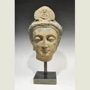 Image For: Ancient Gandharan Large Stone Buddha Head