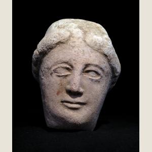 Image For: Ancient Greek Cypriot Limestone Head