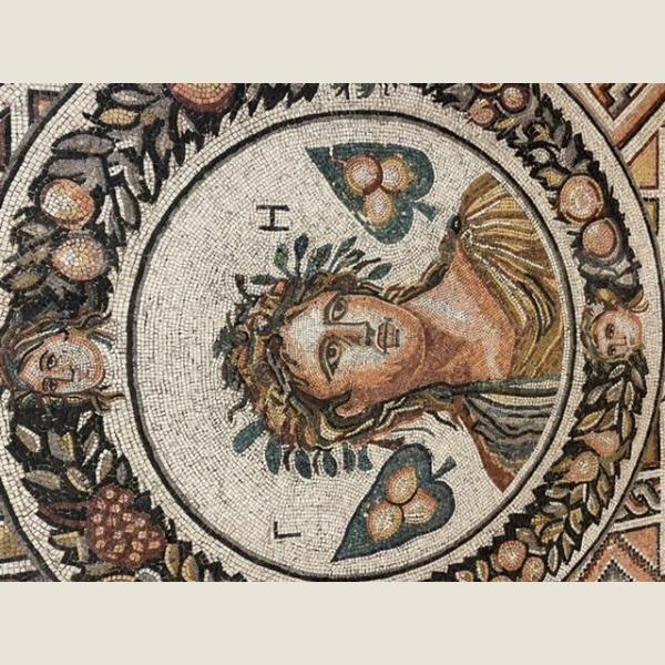 Ancient Roman Mosaic of Gaia