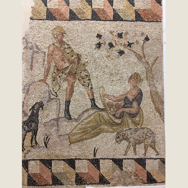 Ancient Roman Mosaic of Seduction