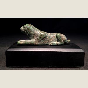 Image For:  Ancient Greek  Bronze Reclining Lioness