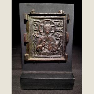 Image For: Ancient Byzantine Bronze Christ Centerpiece