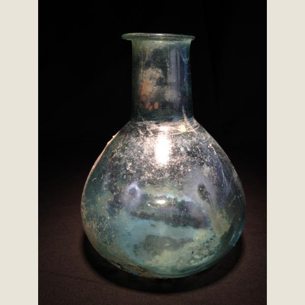 Ancient Roman Glass Large Bottle