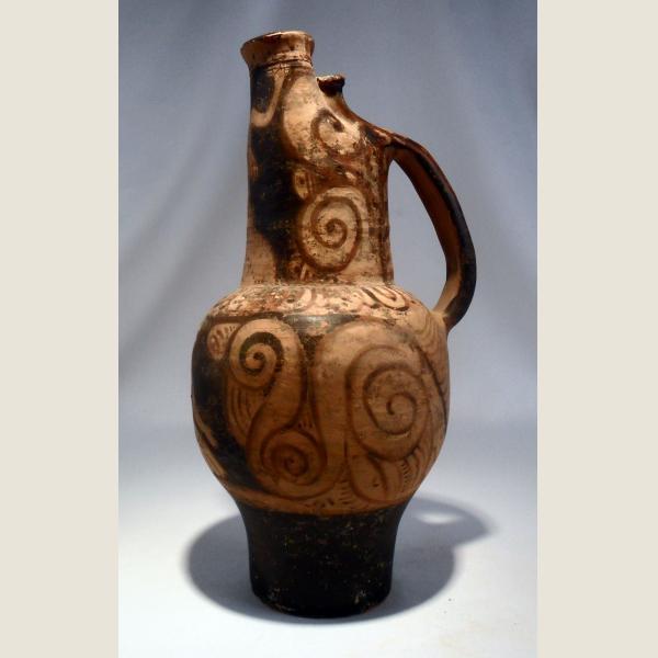 Ancient Greek Red Figure Beaked Oinochoe