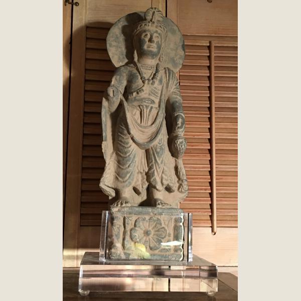 Ancient Gandharan Standing Bodhisattva