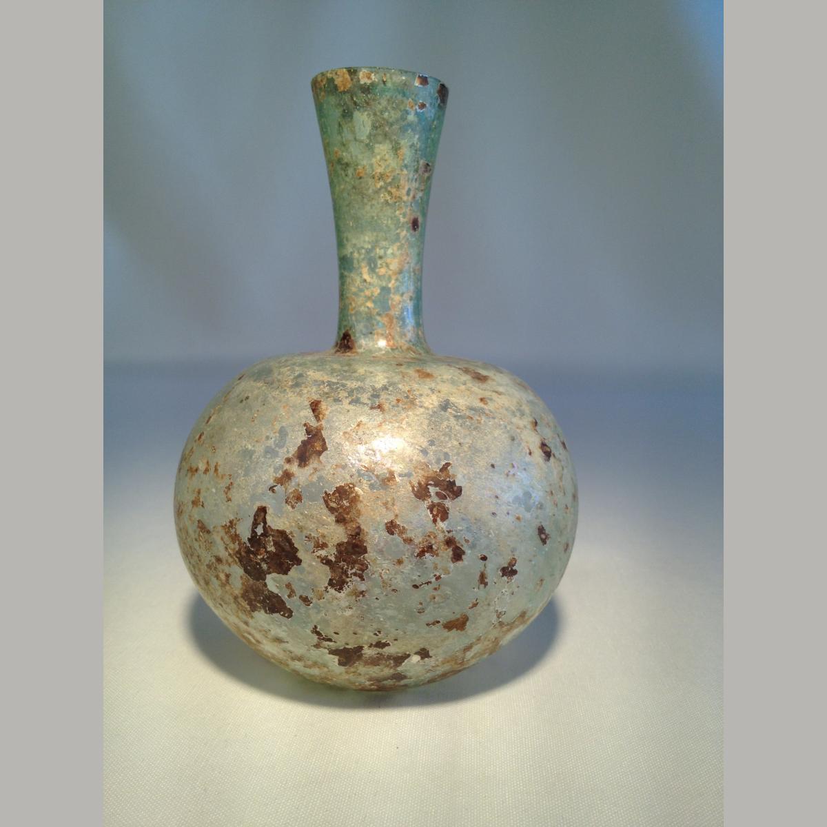 Ancient Roman Glass Bottle