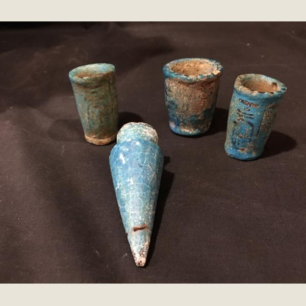 Ancient Egyptian Faience Cones