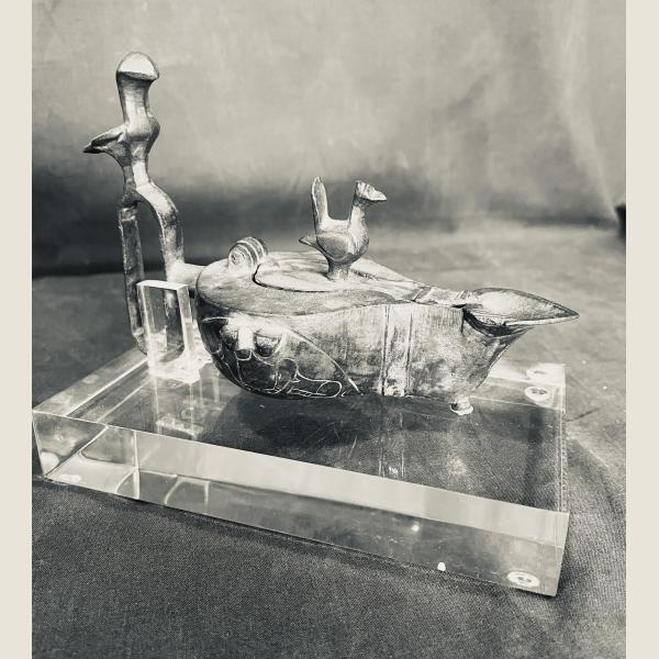 Ancient Islamic Bronze Oil Lamp
