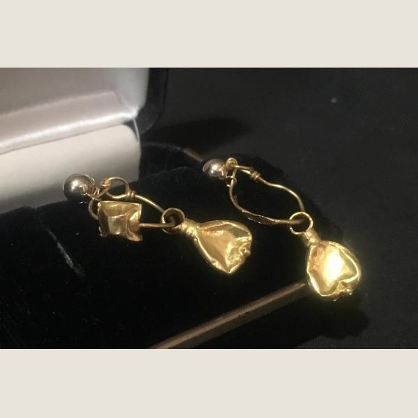 Ancient Roman Gold Earrings