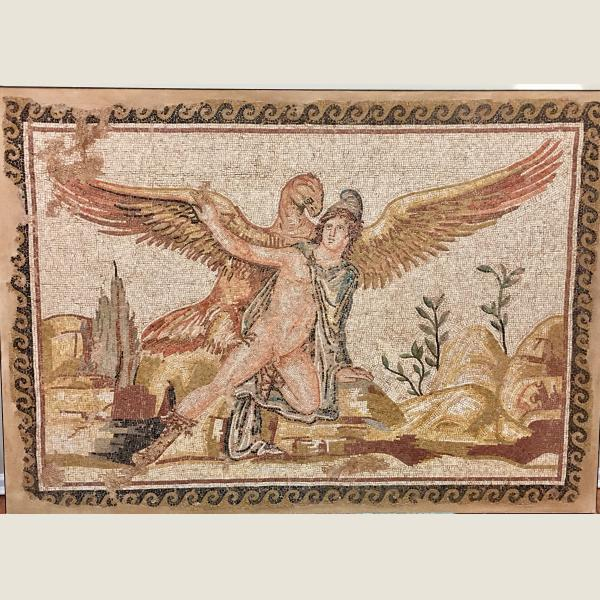 Ancient Roman Zeus and Ganymede Mosaic