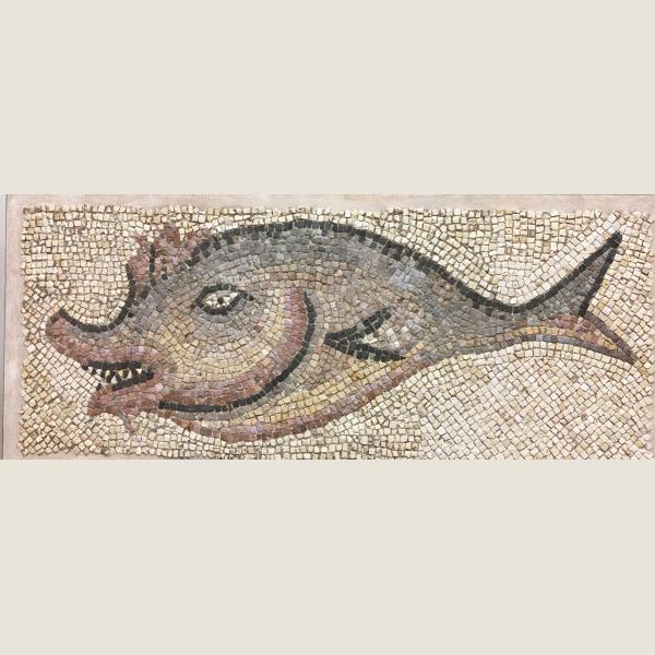 Ancient Roman Mosaic of a Fish