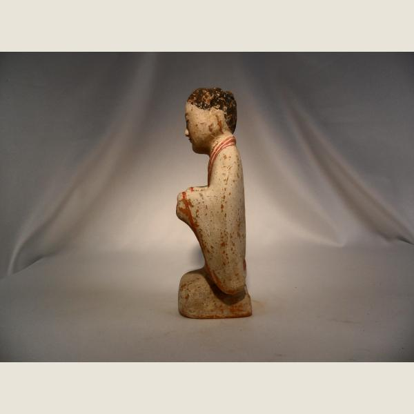 Ancient Chinese Figure of Kneeling Woman.,