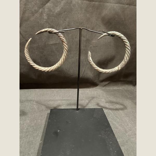 Ancient Luristan Silver Bracelets