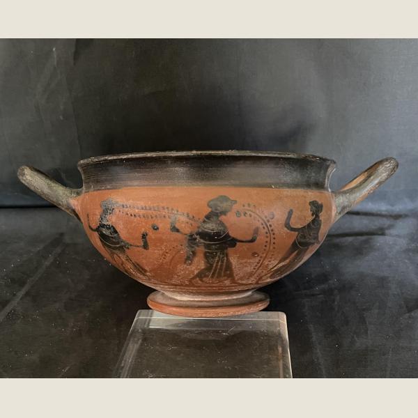 Ancient Greek Attic Black Figure Skyphos