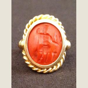 Image For: Ancient Roman Red Jasper and Gold Ring