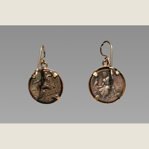 Ancient Greek Alexander the Great Earrings