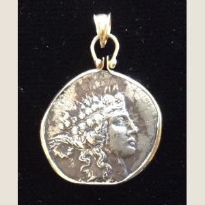 Image For: Ancient Greek Silver Drachma Pendant