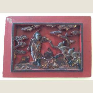 Image For: Vintage Chinese Wooden Panel
