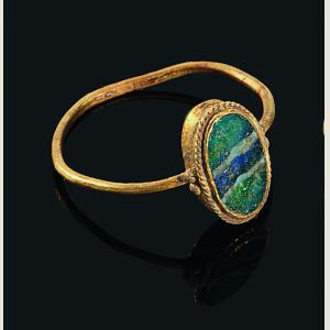 Image For: Ancient Roman Glass Inlay Gold Ring