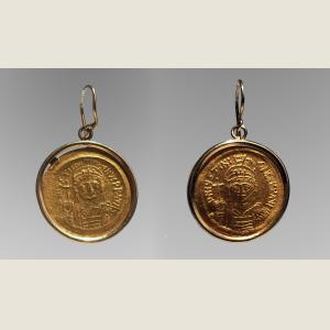 Image For: Ancient Byzantine Gold Earrings