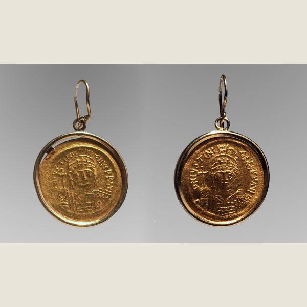 Ancient Byzantine Gold Earrings