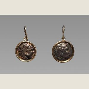 Image For: Ancient Greek Alexander the Great Earrings