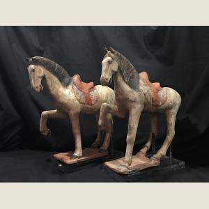 Image For: Ancient Chinese Tang Dynasty Horse Pair
