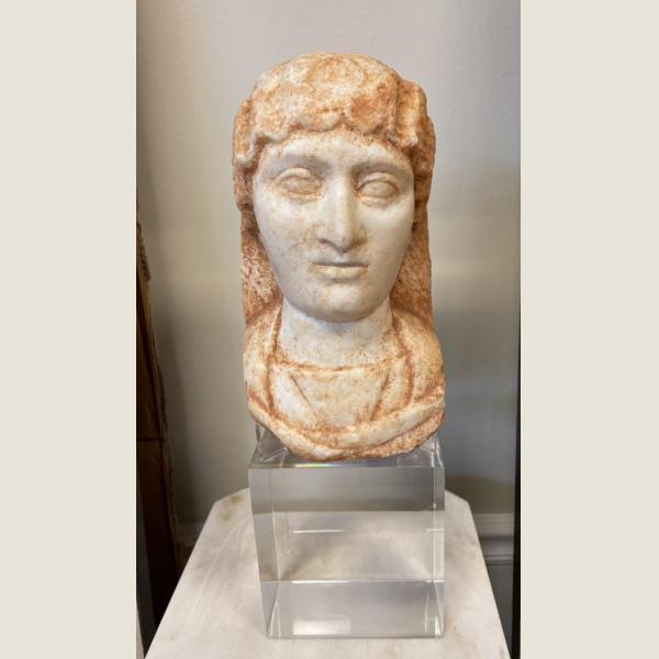 Ancient Roman Marble Head