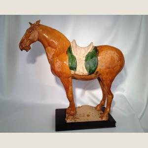 Image For: Ancient Chinese Tang Dynasty Glazed Horse