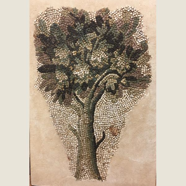 Ancient Roman Mosaic of a Tree