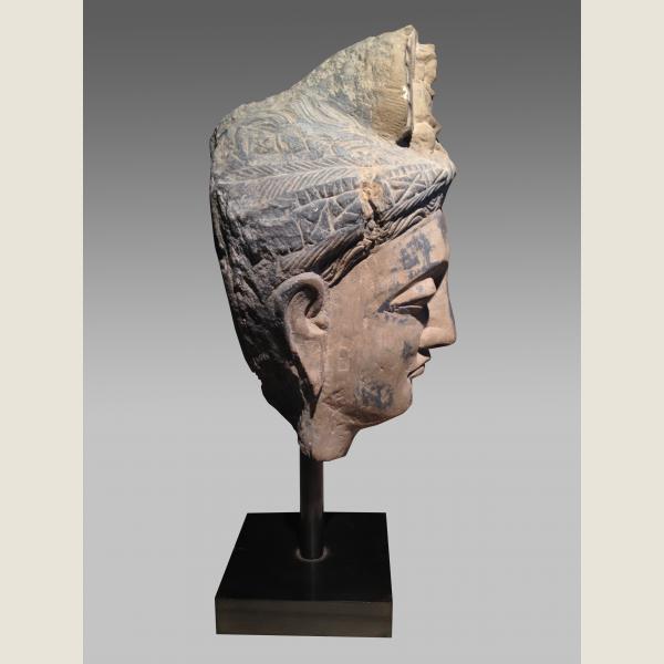 Ancient Gandharan Large Stone Buddha Head