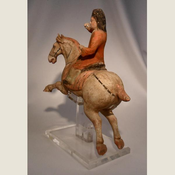 Ancient Chinese Tang Dynasty Terracotta Polo Player