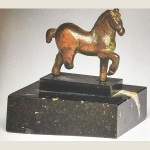 Image For: Ancient Roman Bronze Horse