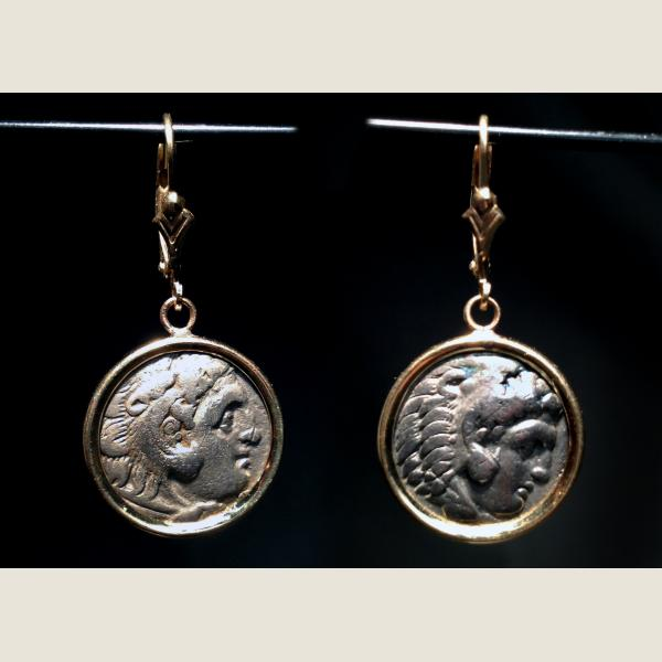 Ancient Greek Drachma Earrings