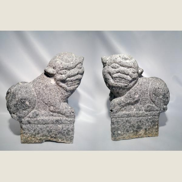 Ancient Chinese Qing Dynasty Guardian Lions