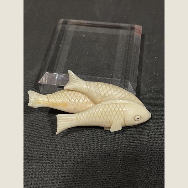 Antique Carved Fish Trio