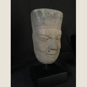 Image For: Ancient Chinese Head of Temple Attendant