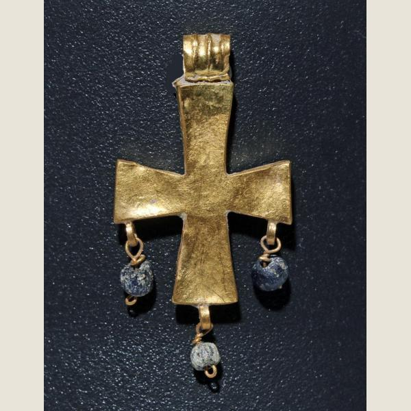 Early Byzantine Golden Cross Pendant