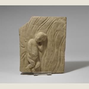 Image For: Ancient Chinese Song Dynasty Stone Plaque of Child