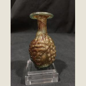 Image For: Ancient Roman Glass Janus Head Aryballos