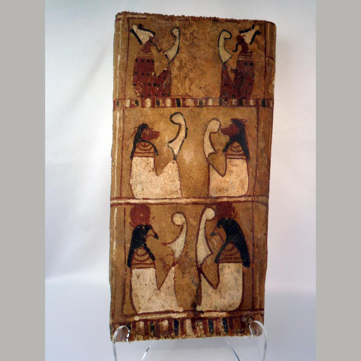 Ancient Egyptian Six Figure Sarcophagus Panel