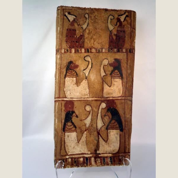 Ancient Egyptian Six Figure Sarcophagus Panel.