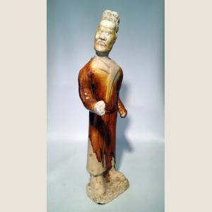 Image For: Ancient ChineseTang Dynasty Rare Glazed Figure