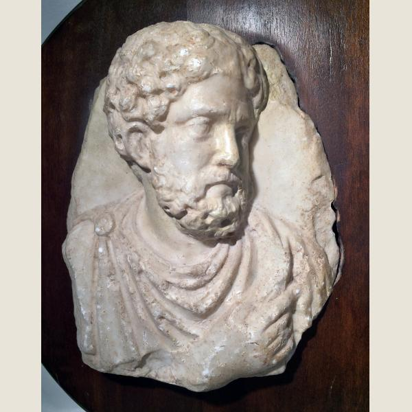 Ancient Roman Marble Head of a Man